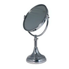 ... Brass Chrome Brass Magnifying Countertop Vanity Mirror at Lowes.com