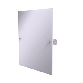 Allied Brass Dottingham 21-in W x 26-in H Rectangular Tilting Frameless Bathroom Mirror with Polished Chrome Hardware and Beveled Edges