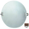 Allied Brass 22-in H x 22-in W Retro-Dot Round Frameless Bathroom Mirror with Beveled Edges