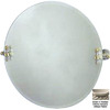 Allied Brass 22-in H x 22-in W Retro-Wave Round Frameless Bathroom Mirror with Beveled Edges