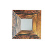 WS Bath Collections 19-3/4-in H x 19-3/4-in W Concert Wenge Wood Square Bathroom Mirror