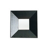 WS Bath Collections 19-3/4-in H x 19-3/4-in W Concert Ebony Wood Square Bathroom Mirror