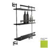 Nameeks Grip 3-Tier Chrome/Green Plastic Bathroom Shelf
