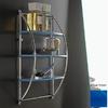 Nameeks Kor 3-Tier Chrome/Blue Plastic Bathroom Shelf