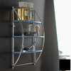 Nameeks Kor 3-Tier Chrome/Black Plastic Bathroom Shelf