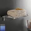 Nameeks Kor Chrome/Light Blue Plastic Bathroom Shelf
