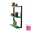Nameeks Eden 3-Tier Chrome/Pink Plastic Bathroom Shelf