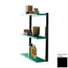 Nameeks Eden 3-Tier Chrome/Black Plastic Bathroom Shelf