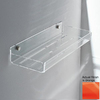 Nameeks Corner Chrome/Orange Brass Bathroom Shelf