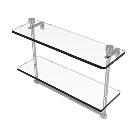 Allied Brass Prestige Regal 2-Tier Satin Nickel Brass Bathroom Shelf