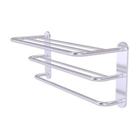 Allied Brass 3-Tier Satin Chrome Brass Bathroom Shelf