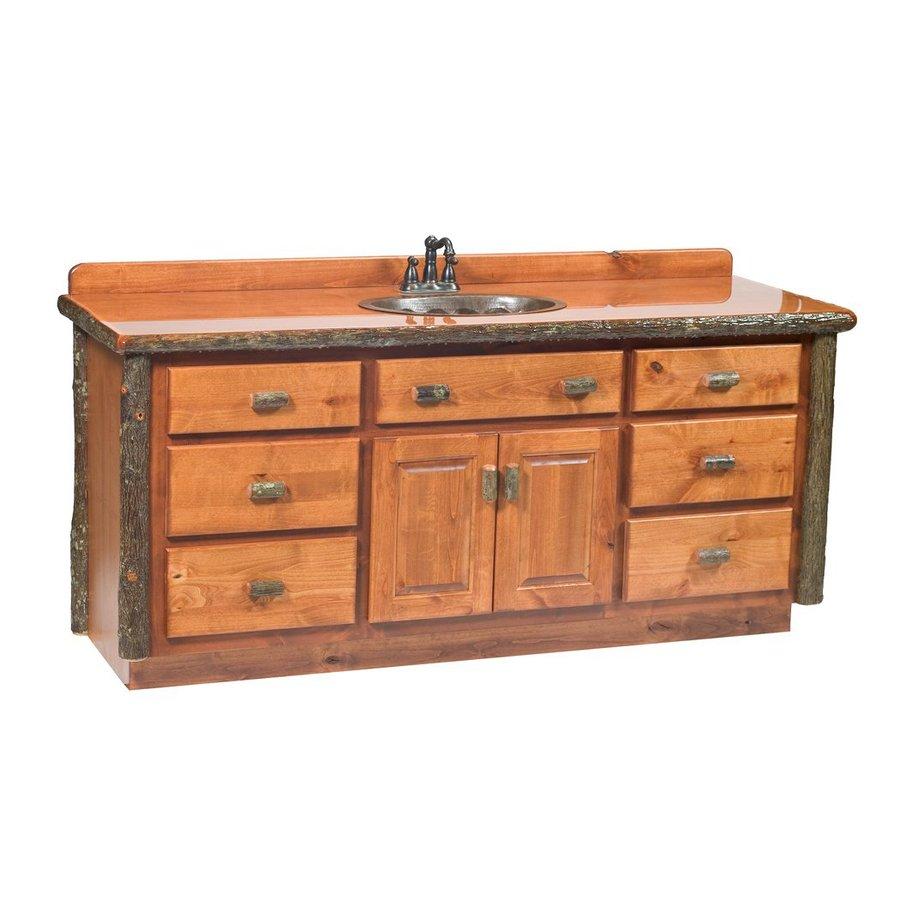 Shop Fireside Lodge Furniture Hickory Rustic Alder Bathroom Vanity