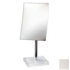 ... Gedy White Plastic Magnifying Countertop Vanity Mirror at Lowes.com