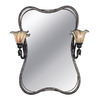 Kenroy Home Inverness 29-in W x 32.5-in H Tuscan Silver Bathroom Mirror