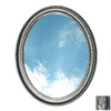 American Pride 31-in H x 25-in W Middleton Pewter Oval Bathroom Mirror