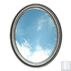 American Pride 31-in H x 25-in W Middleton Platinum Oval Bathroom Mirror