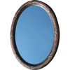 American Pride Corinthian Ornate 26-in W x 36-in H Venetian Bronze Oval Bathroom Mirror