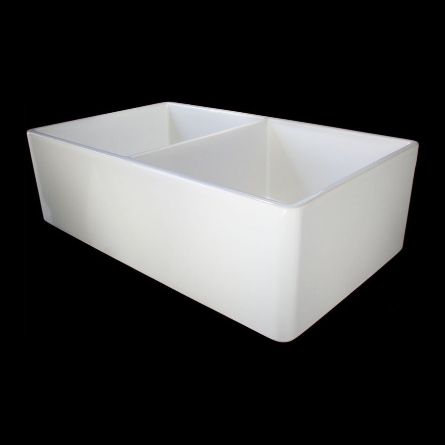 Farm Sinks At Lowes : ... Double-Basin Apron Front/Farmhouse Fireclay Kitchen Sink at Lowes.com