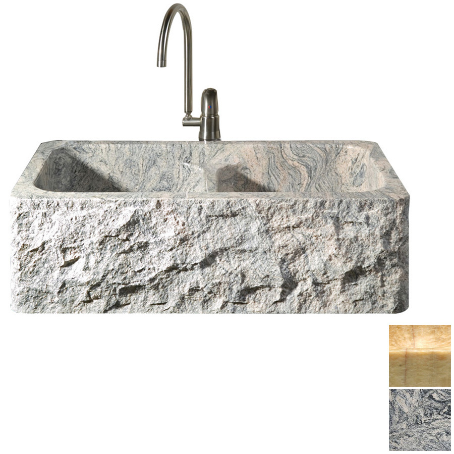 ... Double-Basin Apron Front/Farmhouse Granite Kitchen Sink at Lowes.com