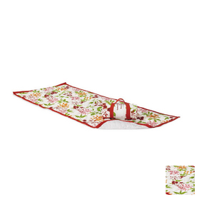 Twotree Red Floral Beach Mat and Carrier