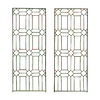 H. Potter 19-in W x 48-in H Charcoal Brown Panel Garden Trellis