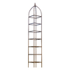 H. Potter 12-in W x 92-in H Charcoal Brown Trellis