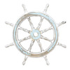 UMA Enterprises 2-ft Nautical Maritime Decor Wooden Ship Wheel Accent