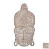 UMA Enterprises 2.3334-ft Wood Buddha Head Wall Decor Accent