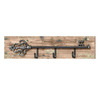 Woodland Imports 27-in x 0.58-ft x 4-in Interior Clever Key Wall Panel with Hooks Accent