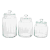 Woodland Imports 3-Piece Glass Food Storage Container