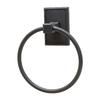Residential Essentials Hamilton Black Wall-Mount Towel Ring