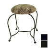 Grace Collection 18-in H Satin Black Round Makeup Vanity Stool