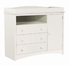 South Shore Furniture 47-in W Pure White Surface-Mount Baby Changing Station