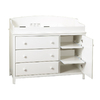 South Shore Furniture 48-in W Pure White Surface-Mount Baby Changing Station