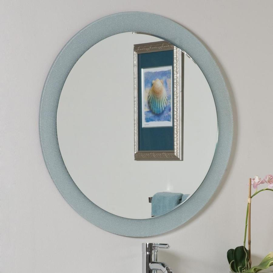 Shop decor wonderland zoe 27 6 in h x 27 6 in w round for Bathroom decor mirrors