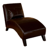 Best Selling Home Decor Charlotte Espresso Brown Bonded Leather Chaise