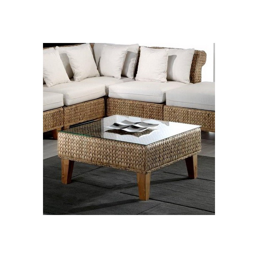 Shop Hospitality Rattan Seagrass Natural Square Coffee Table At
