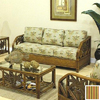Hospitality Rattan Cancun Palm TC Antique Stationary Sofa