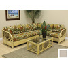 Hospitality Rattan Cancun Palm TC Antique 2-Piece Sectional Sofa