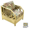 Hospitality Rattan Cancun Palm TC Antique Accent Chair