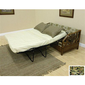Shop Hospitality Rattan Cancun Palm TC Antique Duck Sleeper Sofa at Lowes