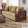 Hospitality Rattan Padre Island Antique Stationary Sofa