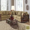 Hospitality Rattan Padre Island Antique 2-Piece Sectional Sofa