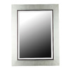 Kenroy Home Dolores 30-in x 38-in Silver Beveled Rectangle Framed Wall Mirror