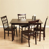 Warehouse of Tiffany Justin Light Cappuccino Dining Set