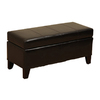 Warehouse of Tiffany Ariel Dark Brown Rectangle Storage Ottoman