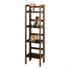 Winsome Wood Antique Walnut 14-in W x 51.5-in H x 11.5-in D 4-Shelf Bookcase