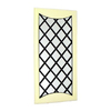 Wayborn Furniture Howard 20-in x 42-in Off White/Black Rectangle Framed Wall Mirror