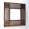 Wayborn Furniture Plantation 40-in x 40-in Brown Square Framed Wall Mirror
