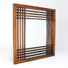 Wayborn Furniture 28-in x 28-in Brown Square Framed Mirror